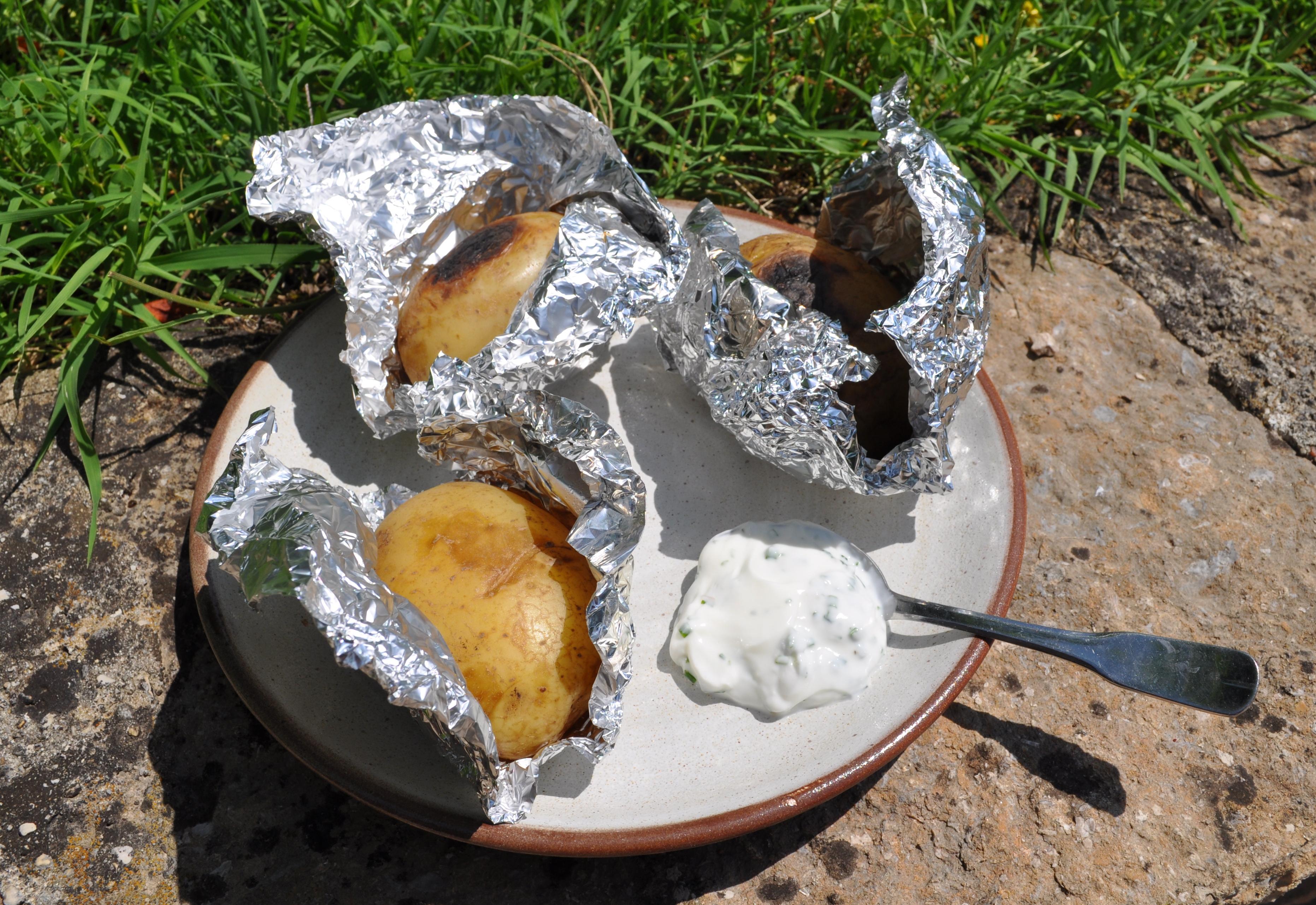 Bon comme babeth accompagnements - Pomme de terre au four papier alu ...